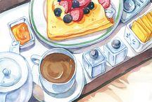 нарисованная еда