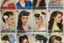 Vintage Hair & Makeup / Vintage hairstyle and makeup inspiration from the 1920's, 30's and 40's that are regularly used by The Sweet Sixteen.