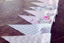 Bunting by The Wedding Bunch NZ / Decorate baby's room, at your baby shower, an engagement party, or the perfect finishing touch for your Vintage, Country, Rustic themed wedding.  Lovingly handmade by The Wedding Bunch
