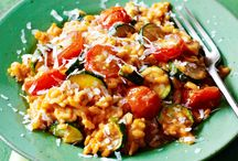 Roasted vegetable risotto.