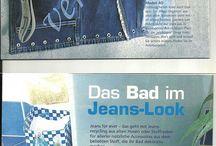 Из старых джинс.