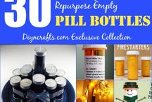 Upcycle pill bottles