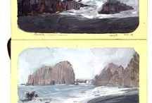 Gouache Sketchbooks / Sketchbooks & paintings from some artists you may not have heard of...