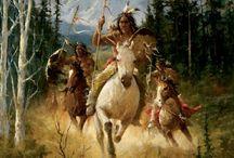 Indian la vânătoare