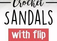 adult crochet flip flop sandals