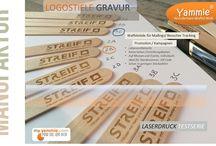 Logostiele - frischer Anstrich für Waffeln, Eis und Cakepops / Verewigen Sie Ihre Marke auf dem Stiel