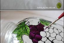 painted jar with pictures