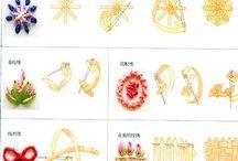 Ribbon embroidery (lint borduren) / lint borduren