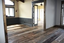 Reclaimed Wood Flooring / With wide plank flooring in your home, you can strike a balance between modern interiors and the unique character of an antique floor.  Learn more: http://woodstockvintagelumber.com/wide-plank-flooring.