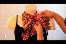 завязать шарфик