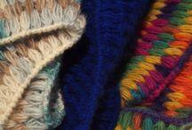 unique crochet scarf / Unique crochet shawls. My own design and construction.