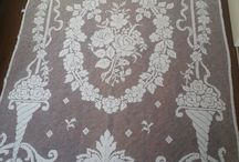 Vintage French embroided filet curtain 1900s by ScheveningsePracht, €139.95