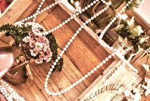 Tinker Jo 1920's Wedding Inspiration / 1920's Wedding  Colours Ivory, Greens, Gold  Key thread Pearls