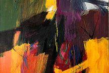Abstract Expressionism / Понятие характеризует поиски американских художников, которые в течение 1940-1950-х годов принялись выражать свои эмоции посредством абстракции. Художественное направление объединило различных по стилистике мастеров; обычно оно делится на живопись действия (акционизм) и живопись цветового поля. Jackson Pollock, Mark Rothko, Willem de Kooning, Barnett Newman, David Smith, Franz Kline