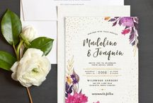 Bohemian Wedding Invitations & Stationery / Beautiful bohemian and boho wedding invitations and stationery for your big day.
