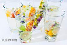 Cocktails & Drinks with BloomBites / Creëer prachtige drankjes door je cocktail, champagne of smoothie te versieren met eetbare bloemen van BloomBites