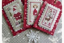 Christmas decorations - cross stitch