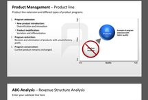 PRODUCT MANAGEMENT // POWERPOINT TEMPLATES / These product management templates and tools for PowerPoint help you to define, plan and manage product development processes successfully. Perfect your business presentation with elegantly pre-designed tables, which include checklists, diagrams, forms, charts and many more tools.