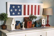 Americana Inspiration / Decor inspired by classic red, white and blue!
