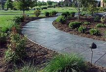 Concrete Cement Stone & Rock Ideas / Creative uses for concrete, cement, stone, rock, and natural elements in landscape or around the home