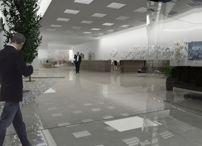 Modelado 3D de edificio de oficinas / Modelado en 3D max de edificio de oficinas según planos en CAD