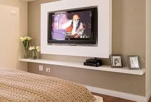 parede televisão