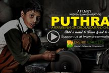 Puthran / 'PUTHRAN'  is a film with a message - about the SENSITIVE ISSUE OF CHILD LABOUR AND CHILD ABUSE. This feature film is produced under the banner Chaitanya Movies. It is established by JayaBharathy with an aim to make meaningful and message oriented good cinema that can be enjoyed by everybody. http://bit.ly/1m32RHp