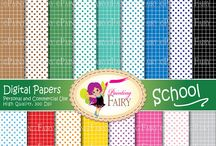 37- 62 - Back to School papers & cliparts / Back to School cliparts & digital papers https://www.etsy.com/shop/PaintingFairyClipart/search?search_query=Back+to+school&order=date_desc&view_type=gallery&ref=shop_search