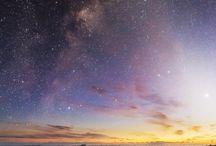 stars, milky way, moon