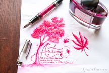 Fountain pens and ink