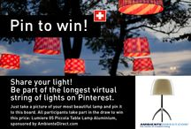 Share your light! / Share your light and invite your friends! Be part of the longest virtual string of lights on Pinterest. That's how it works: 1. Become a follower, 2. Accept our invitation to this group board and 3. Take a picture of your most beautiful lamp and pin it to this board!  All participants take part in the draw to win this price: Lumiere 05 Piccola Table Lamp Aluminium from Foscarini, sponsored by AmbienteDirect.com.  Official Rules: http://bit.ly/1uAYVKr