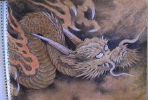 Japanese dragons & SNAKES