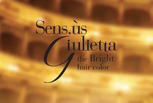 Giulietta Haircolor / Sens.ùs Giulietta, the new permanent color treatment by G&P Cosmetics, is the result of twenty years of experience in formulations and research in the world of cosmetics and trichology. It delivers colors for well-balanced perfect hair, while still being gentle on the scalp. Its public is sophisticated, demanding, its nature elegant and exclusive.