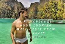 Good Looking Cabin Crew! /  These ridiculous good looking male cabin crew in their 'crewfies' will make you want to travel more! More on the blog:  http://lacenruffles.com/2015/05/18/ridiculously-good-looking-male-cabin-crew-crewfies/