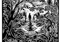 Linocuts- / This medium satisfies my strong love of Graphics