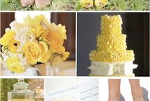 Colour Board - Yellow Wedding Inspiration