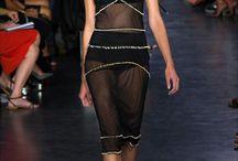 Transparent skirts in spring - summer 2015 designer collections