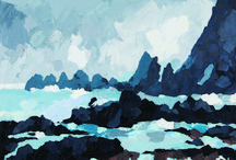 Contemporary Land and Seascapes Paintings / Original oil paintings and limited edition prints for sale