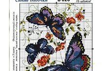 Cross stitch - butterflies