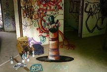 Orble Streetart / Streetart made by Orble in Summer 2013      #streetart #berlin #illusion #painting #art #street