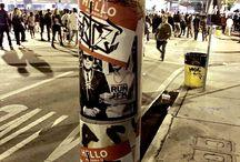 Miami / Mr Sly urban art Miami stickers slap ups