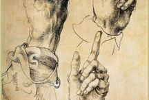 Hands / drawings hands by famous painters and sculptors