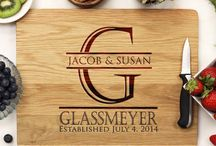 Personalized White Oak Cutting Boards