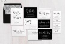 mono theme wedding