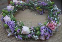 CORONAS DE PAJECITAS Y NOVIAS.BODAS CARACAS VENEZUELA / Hermosas coronas de novias y pajecitas relaizadas con las mas bellas flores frescas.