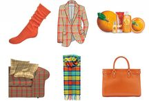 Colour me Tartan - Tangerine May / Colour me Tartan - Tangerine is our colour of the month for May #COTM #tartan #tangerine