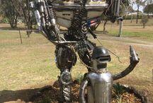 Metal Sculpture / handcrafted artwork
