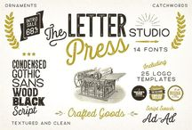 Letterpress Studio Font Pack
