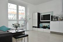 3+kk Brno Střední / Zajímavé řešení bytu 3+kk, které vzniklo chytrou dispoziční změnou původního bytu 2+kk na 45 m2 s prostornou zasklenou lodžií