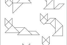 Tangram / Схема танграма Tangram diagramms